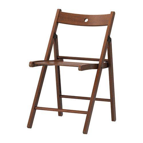 silla plegable de madera