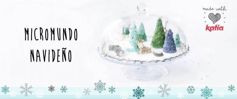 patrones de ganchillo para Navidad - paisaje navideño