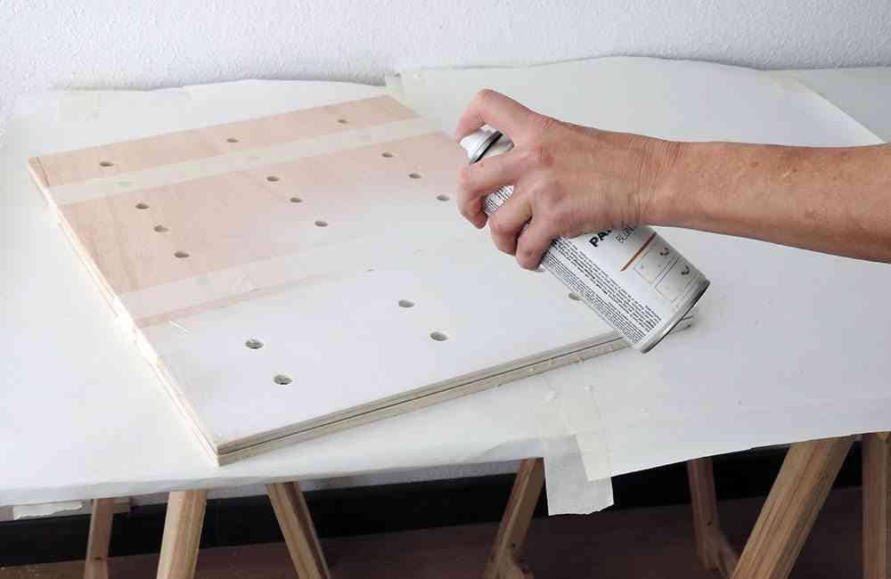 panel-estantería pintar panel spray 9 ok