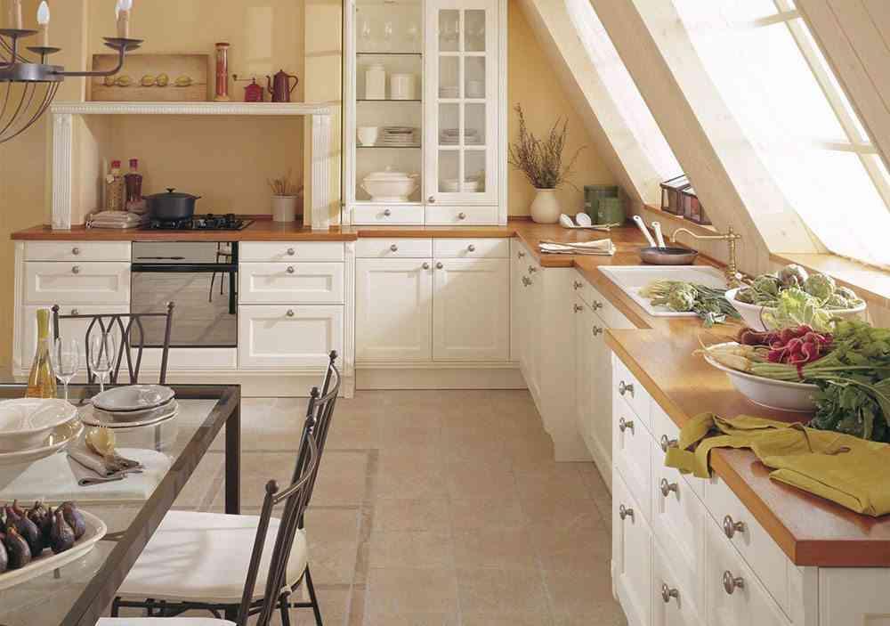 amueblar la cocina porcelanosa rustica