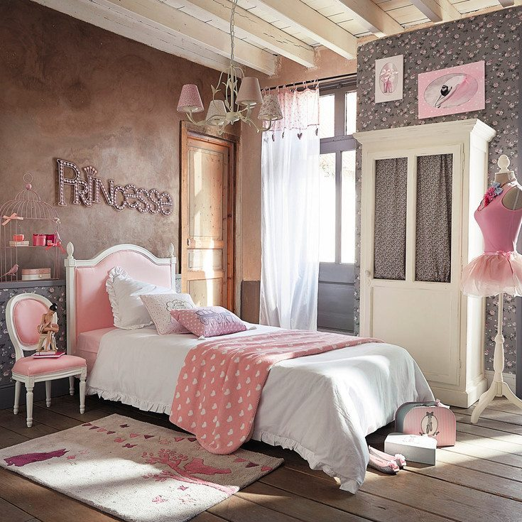 Ideas para decorar un dormitorio rom ntico para ni as - Como decorar una habitacion rustica ...