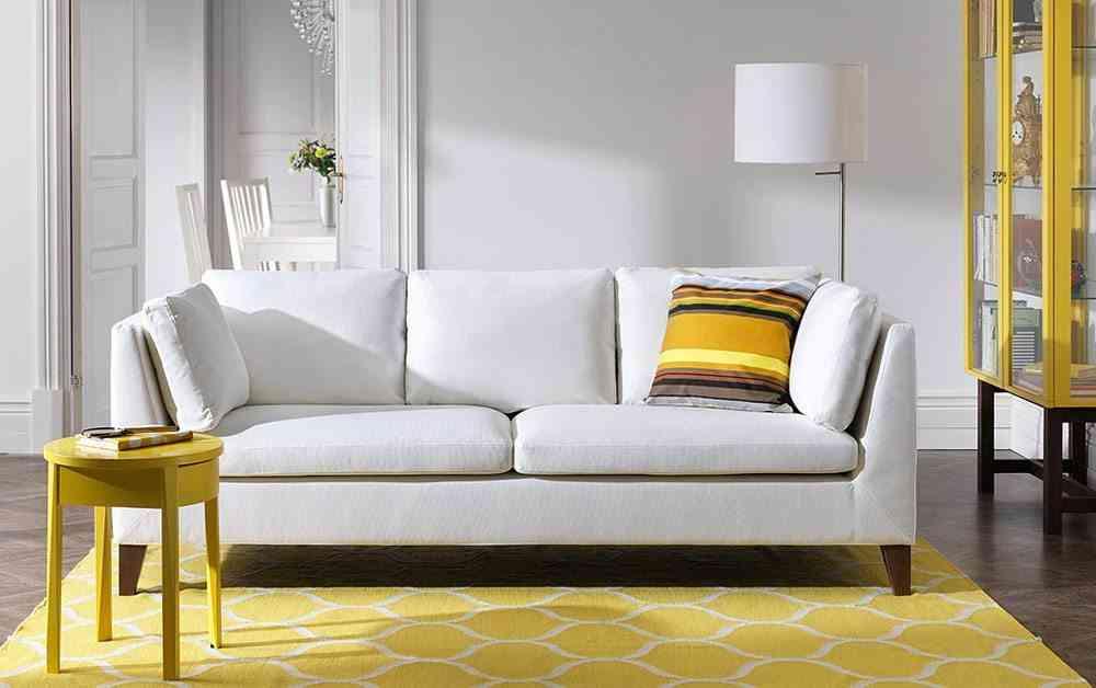 choose the white Ikea sofa