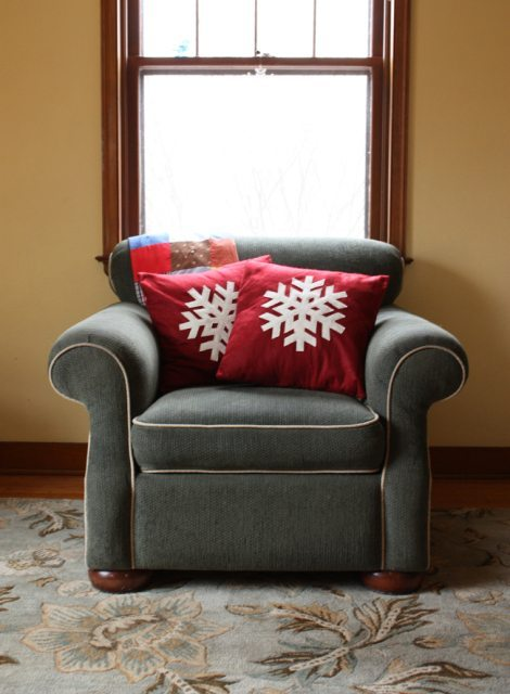 tutoriales de Navidad cojin sillon