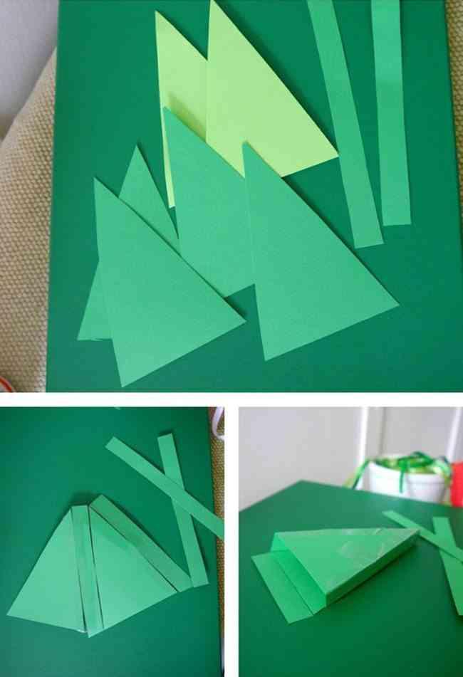 tutoriales de Navidad recortar cartulina pinata