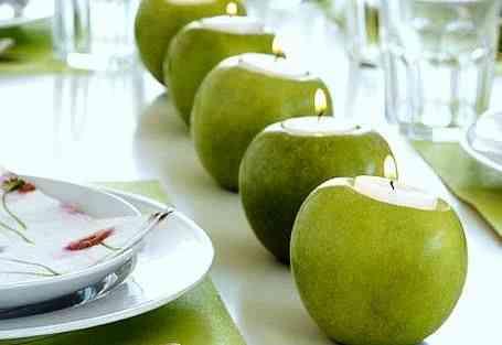 aromatizar y decorar la casa velas manzana