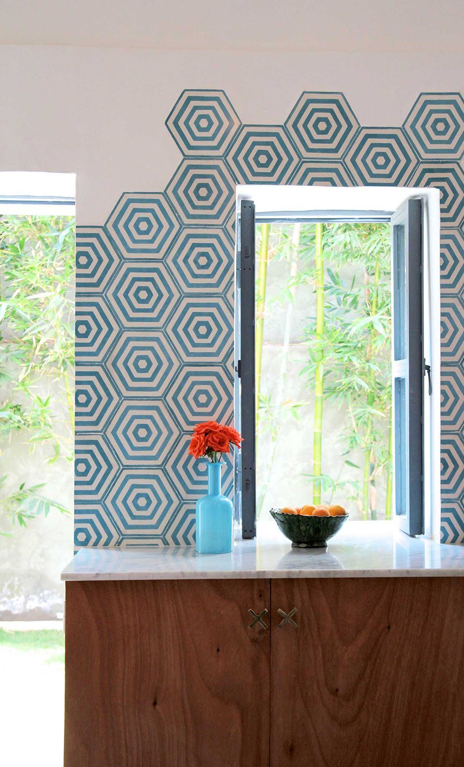 azulejos geometricos popham pared cocina