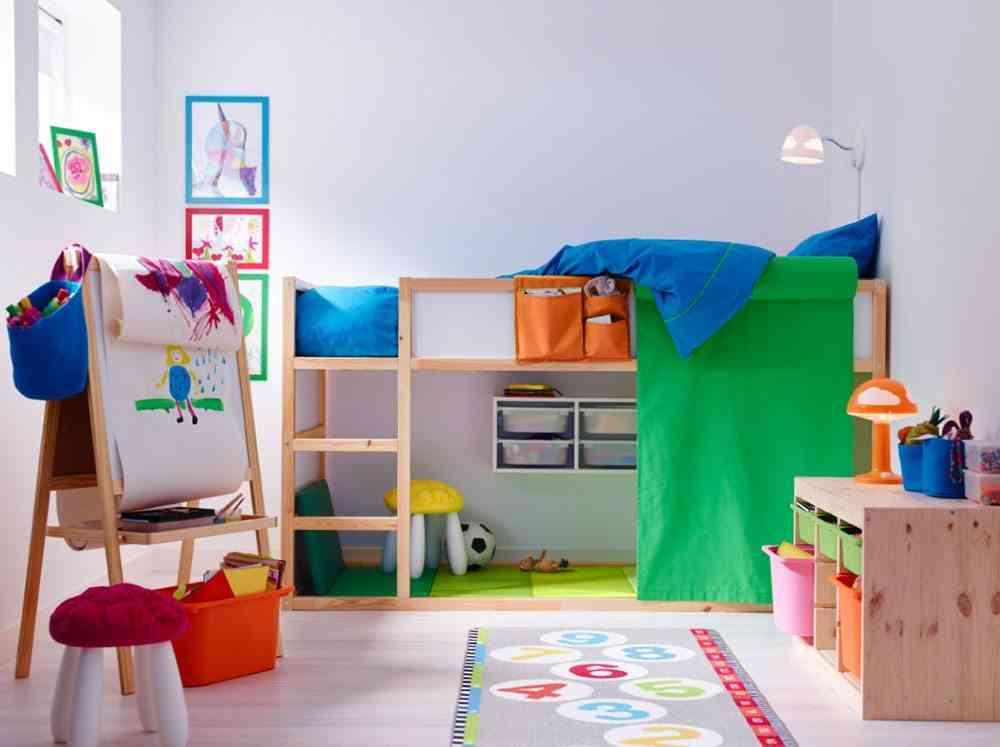 camas altas para ninos ikea infantil