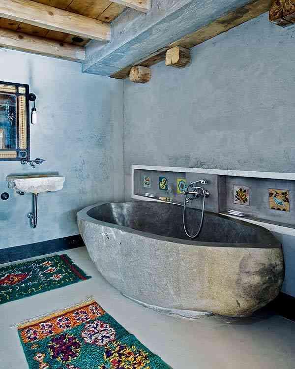 casa en los Alpes franceses banera
