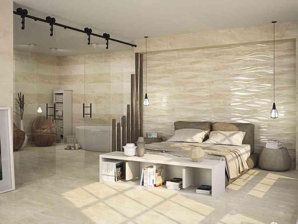 Cer mica con relieve para dejar preciosas las paredes de Revestimiento para paredes dormitorios