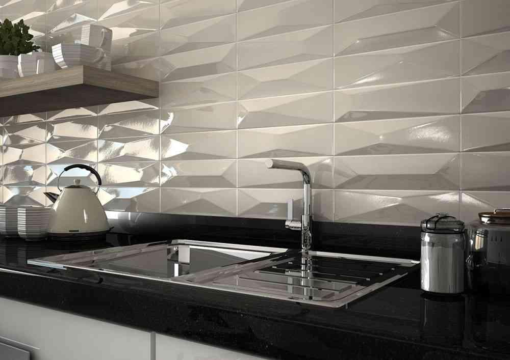 Cer mica con relieve para dejar preciosas las paredes de Baldosas de ceramica para cocinas