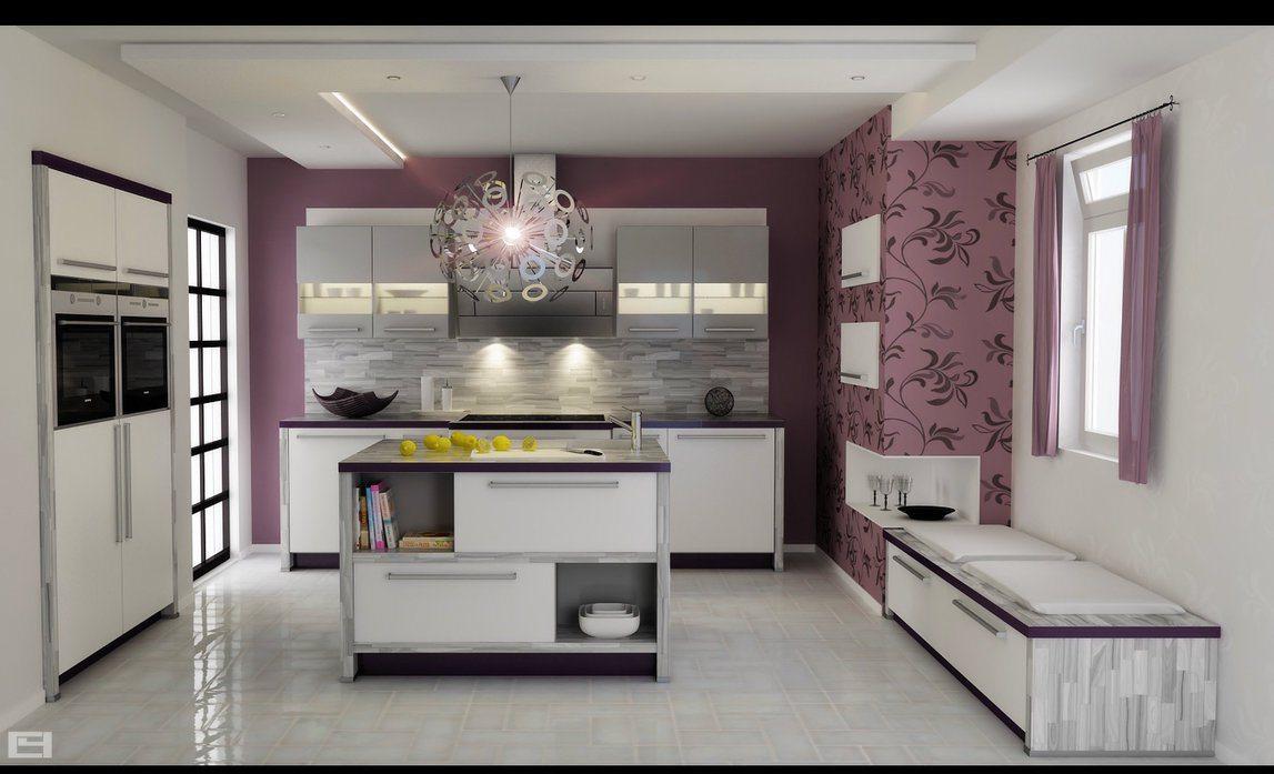 Cocinas decoradas con papel pintado qu te parecen - Papel pintado salones ...