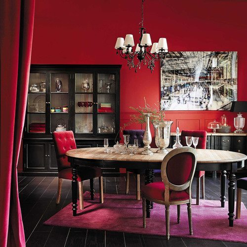 comedores con estilo clasico rojo maisons
