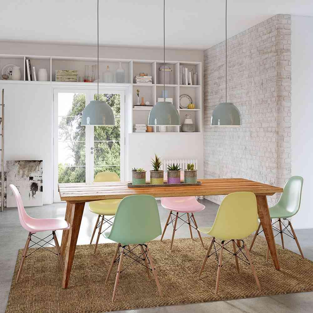 3 comedores con estilo que te encantar n for Comedor sillas de colores