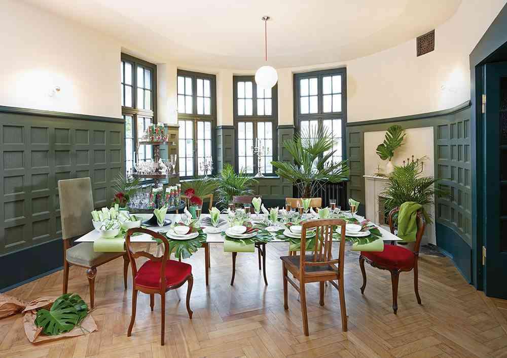 comedores con estilo vintage verde