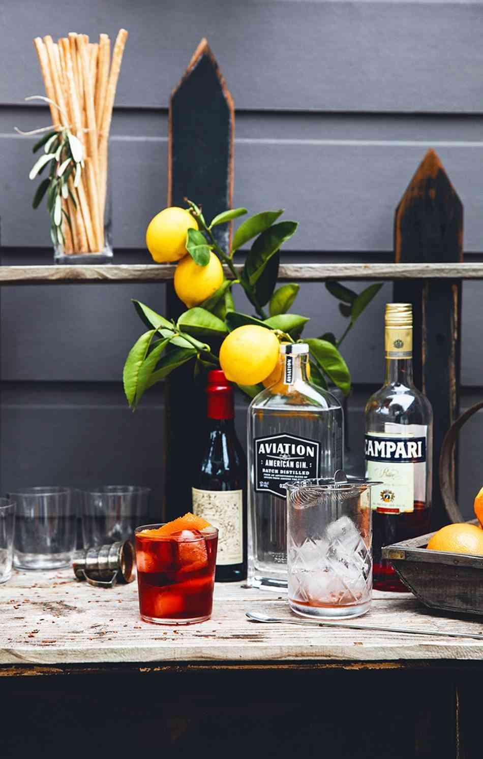 decorar la mesa bebidas
