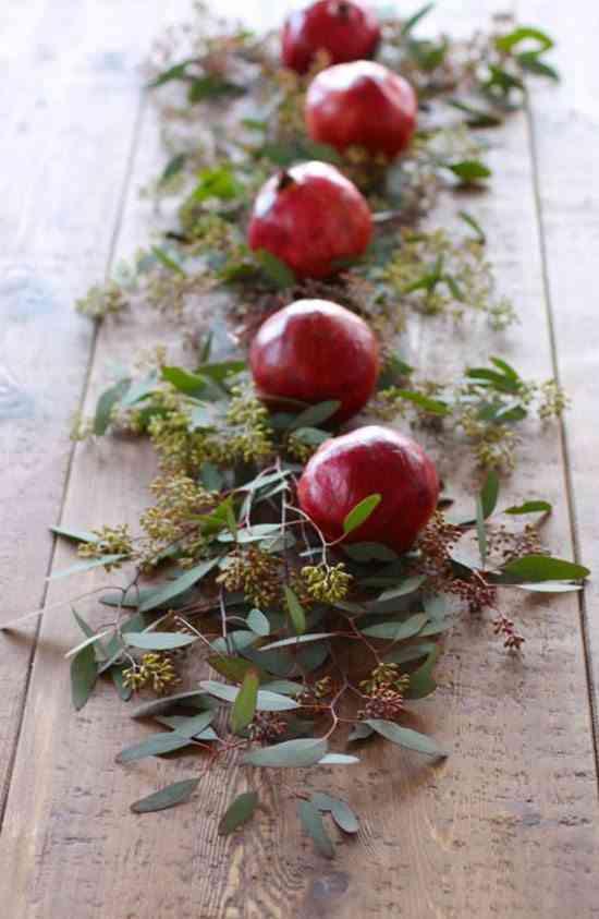 decorar la mesa granadas