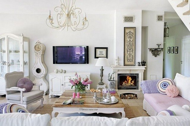 Ideas para decorar tu casa al estilo shabby chic for Living estilo clasico