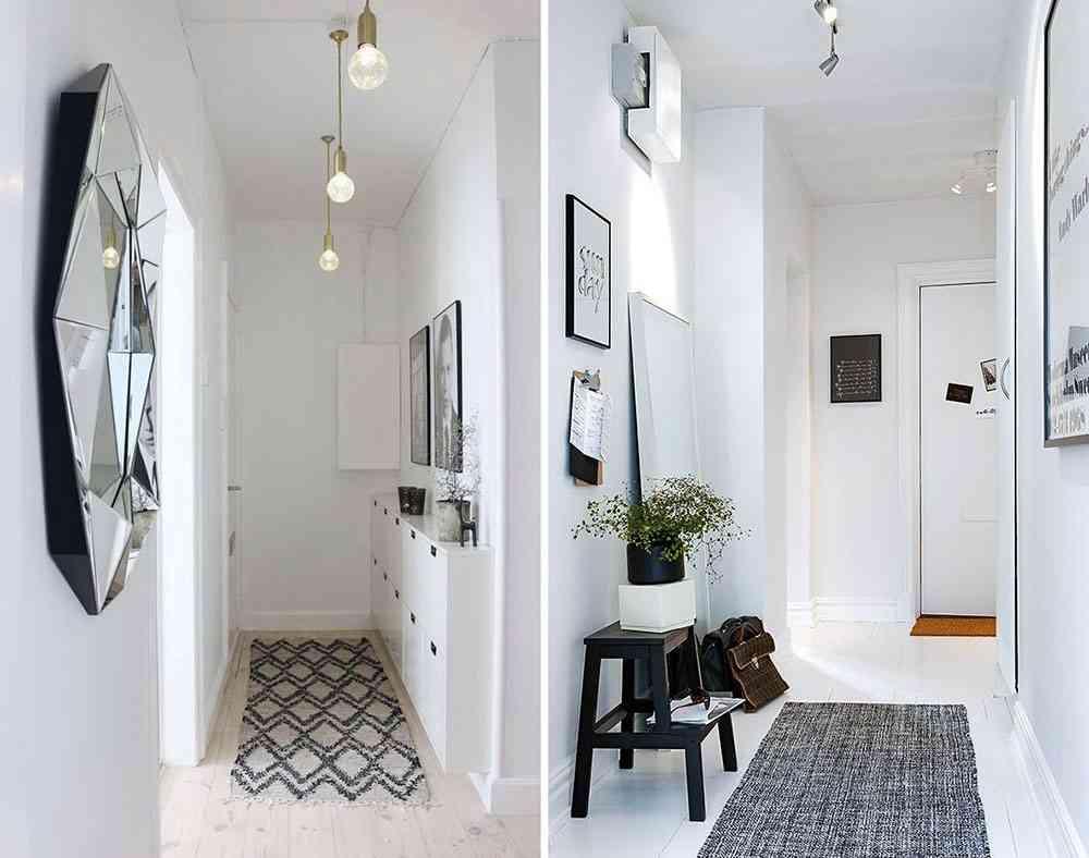 C mo decorar un pasillo estrecho para sacarle el m ximo for Espejo largo pared
