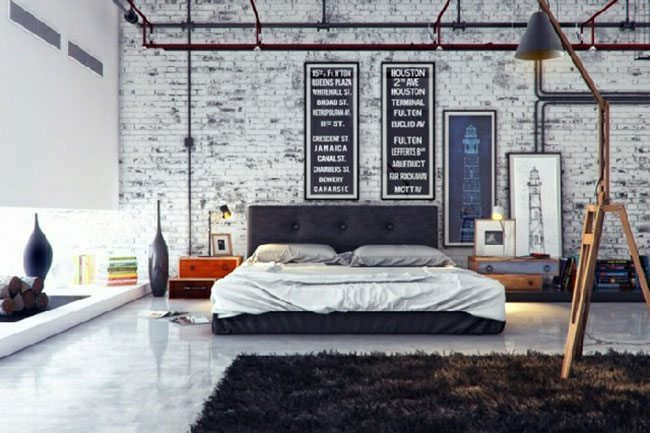 dormitorio de estilo nordico industrial home