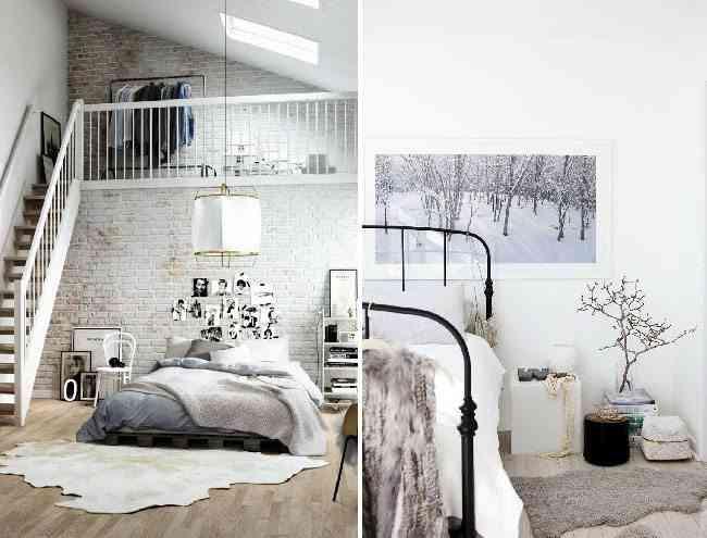 dormitorio de estilo nordico piel home