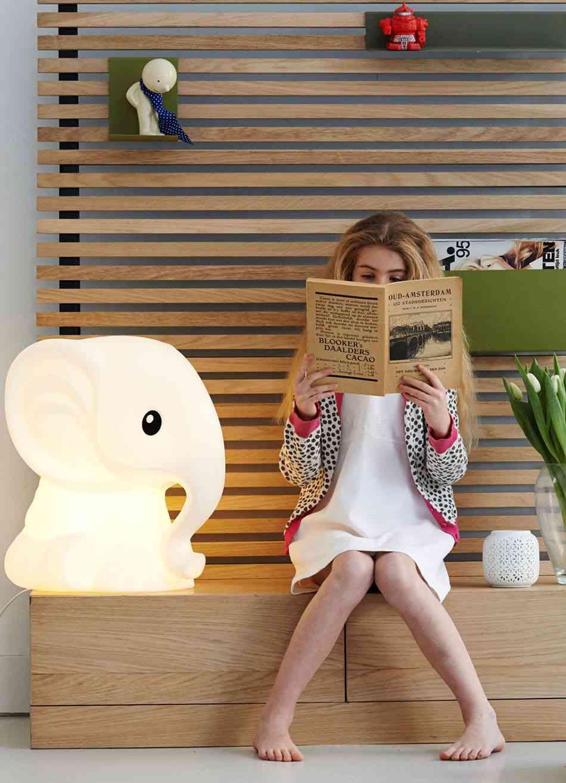 iluminacion de las habitaciones infantiles elefante