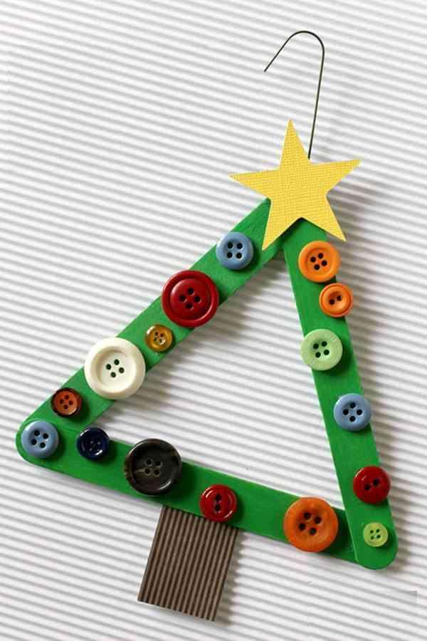 Manualidades y adornos de navidad hechos con palos de helado - Adorno de navidad manualidades ...