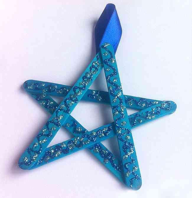 manualidades y adornos de Navidad estrella azul