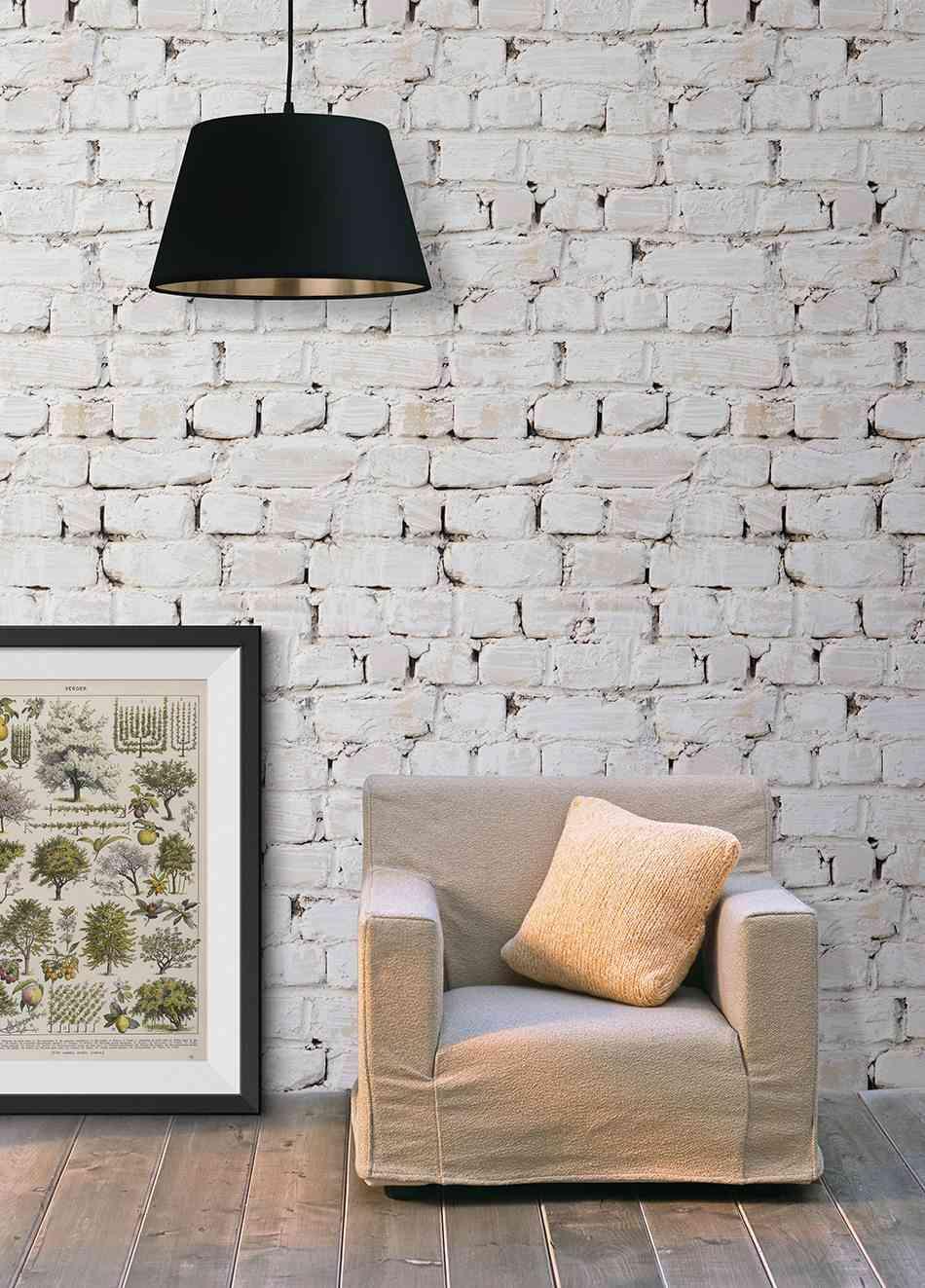6 papeles pintados sorprendentes que imitan otros materiales - Papel de empapelar paredes ...