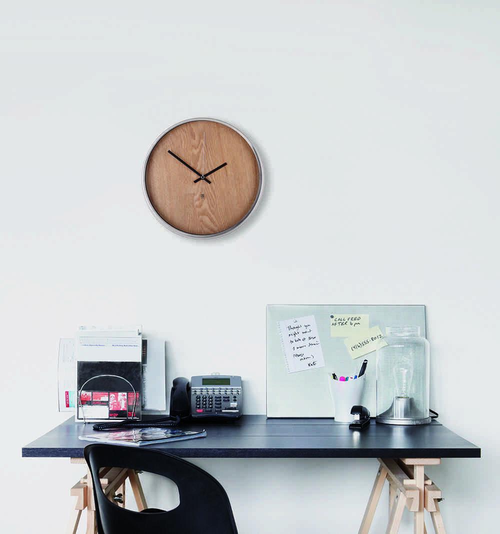 relojes de pared modernos madera redondo