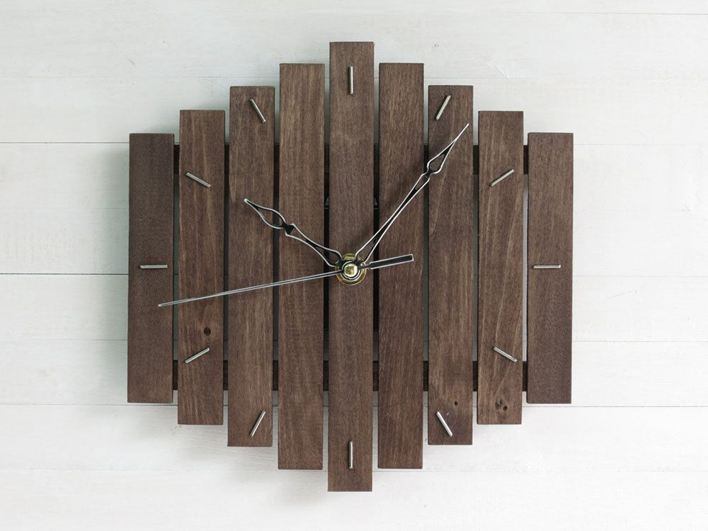 Relojes de pared en madera modernos - Reloj decorativo de pared ...