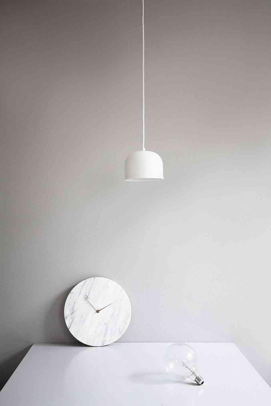 relojes de pared modernos marmol blanco