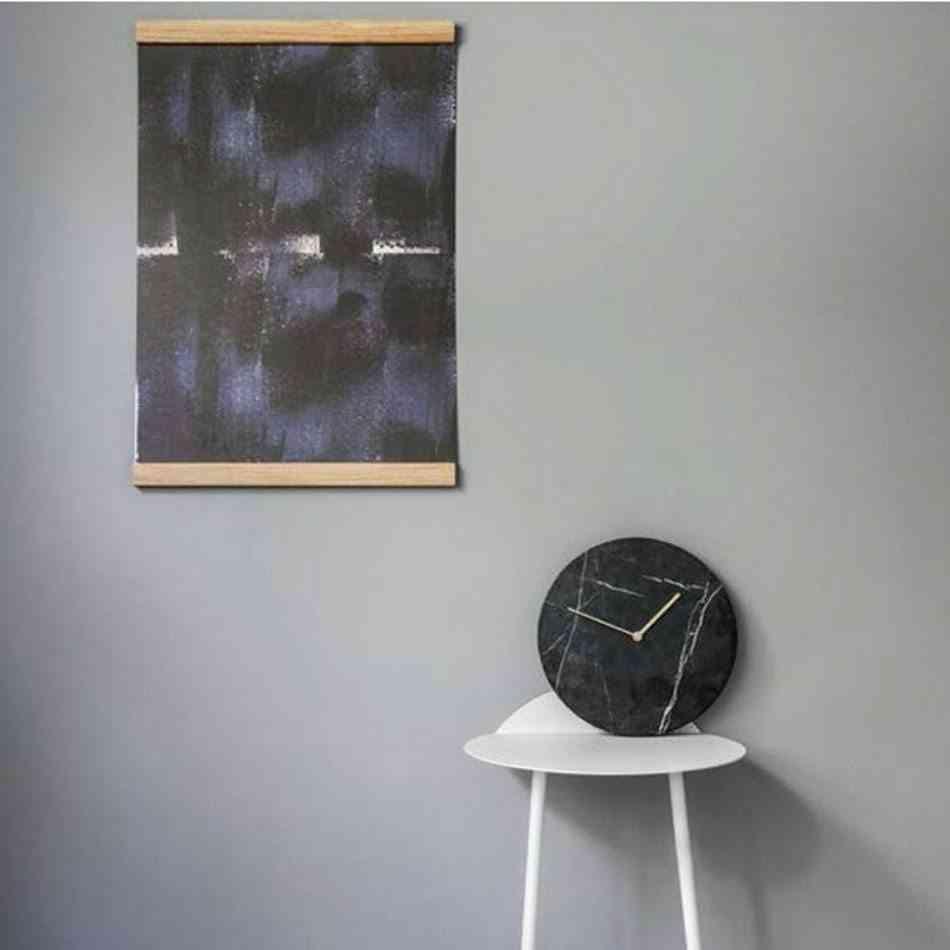 relojes de pared modernos marmol negro
