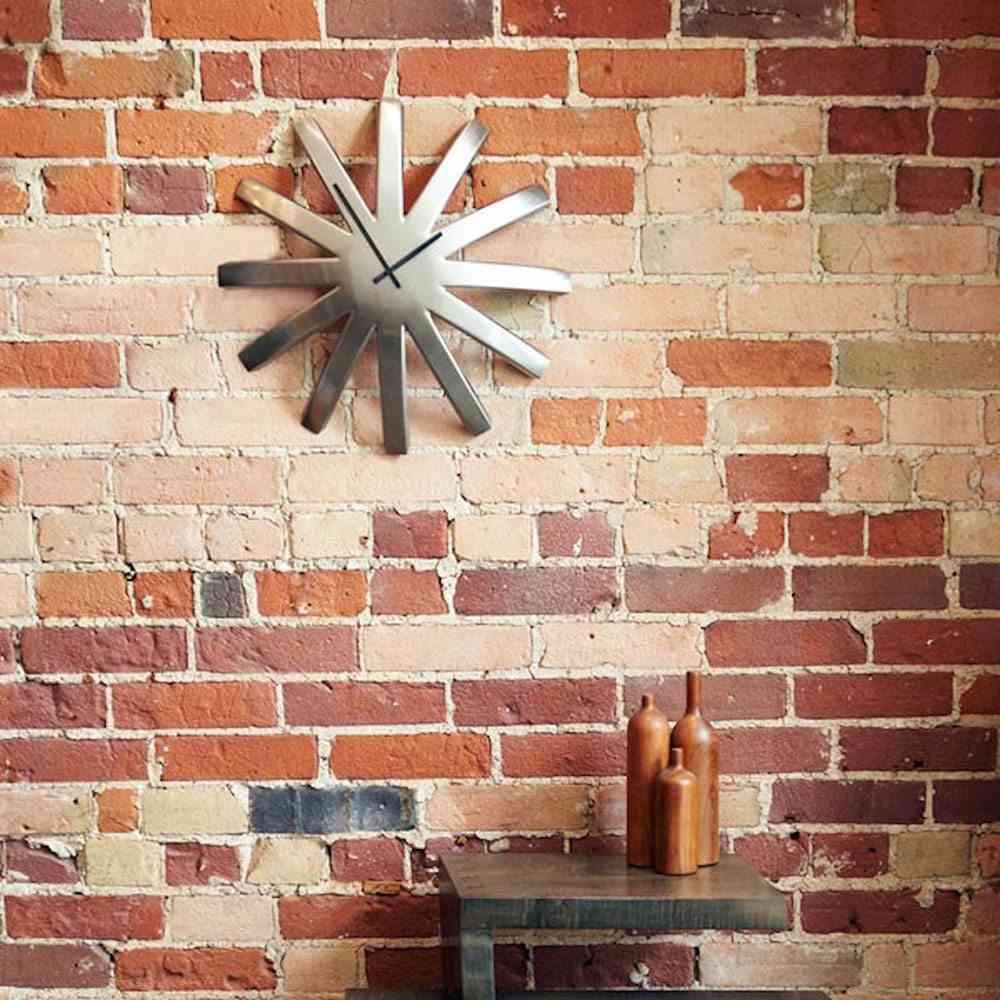 relojes de pared modernos metal estrella