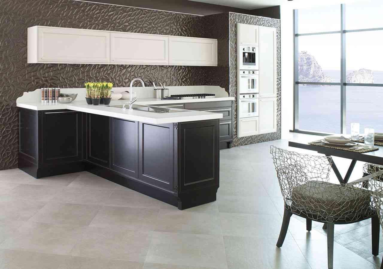 combinación de colores - renovar la cocina cambiando la encimera porcelanosa negro