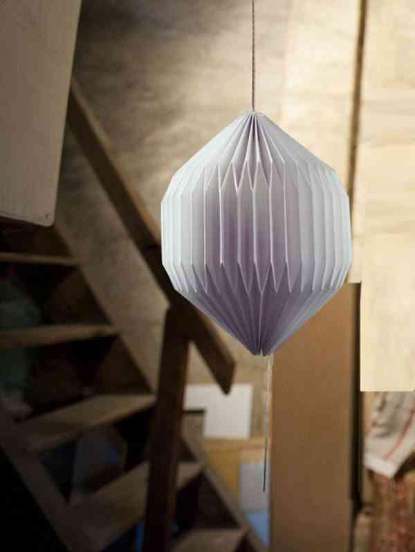 vinilos inspirados en el origami lampara blanca