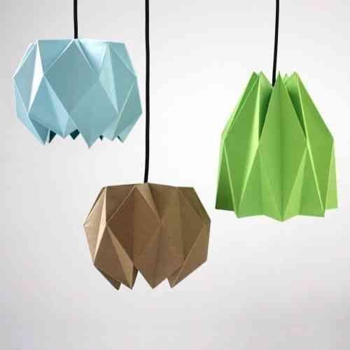 vinilos inspirados en el origami lamparas