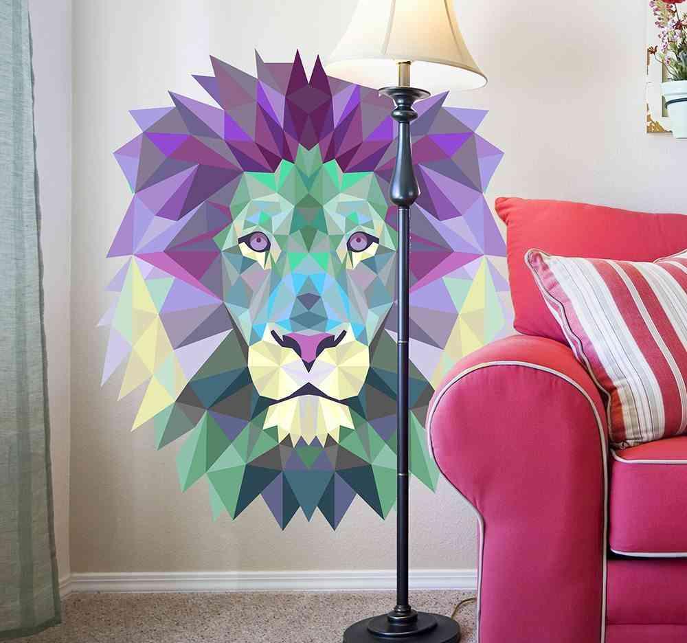 vinilos inspirados en el origami leon
