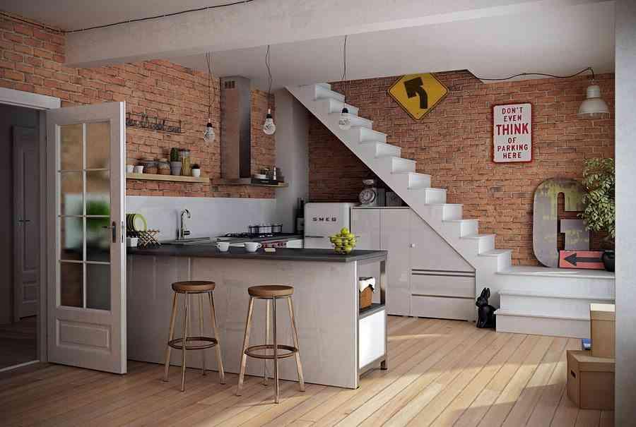 Las ventajas e inconvenientes de tener una cocina abierta for Modelo de cocina abierta en el comedor