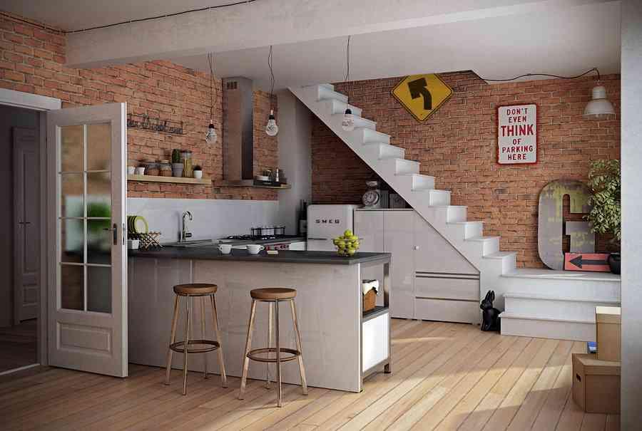 Las ventajas e inconvenientes de tener una cocina abierta - Decoracion rustica barata ...