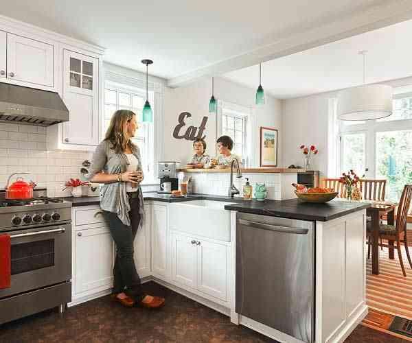 Las ventajas e inconvenientes de tener una cocina abierta for Cocina y salon unidos