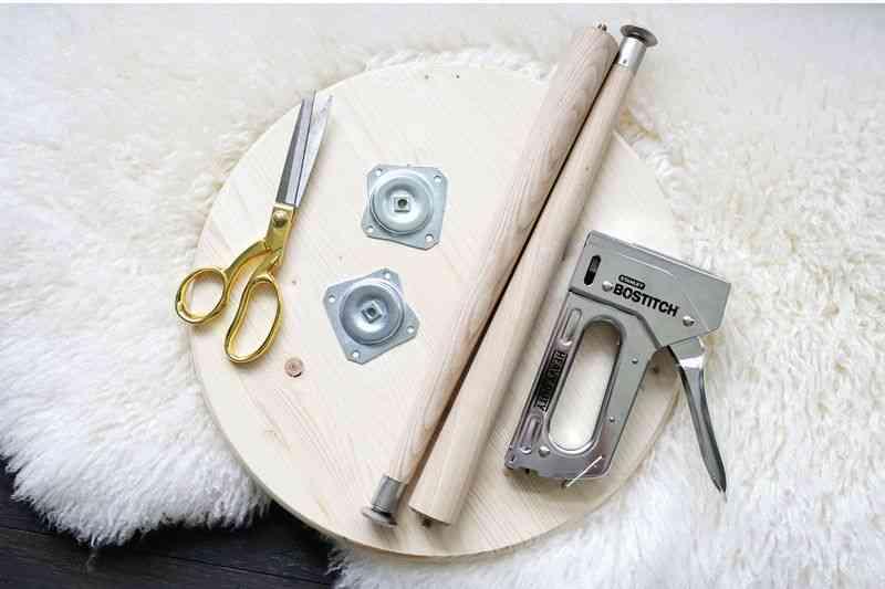 como hacer un taburete materiales