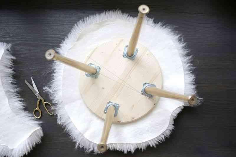 como hacer un taburete piel cortada