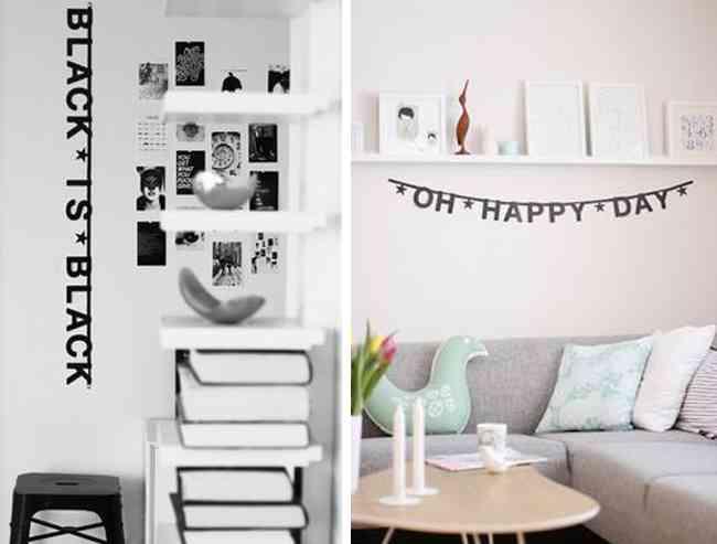 Ideas que te animar n a decorar con guirnaldas for Letras decoracion ikea