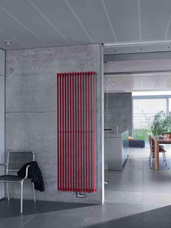elegir radiadores de diseno zendher rojo