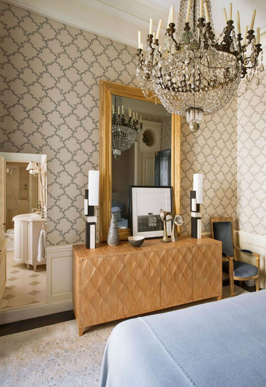 espejos de pared unicos Gold Mirrors for Bedroom