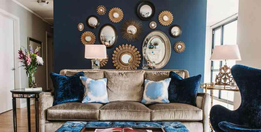 espejos de pared unicos grupo de espejos redondos