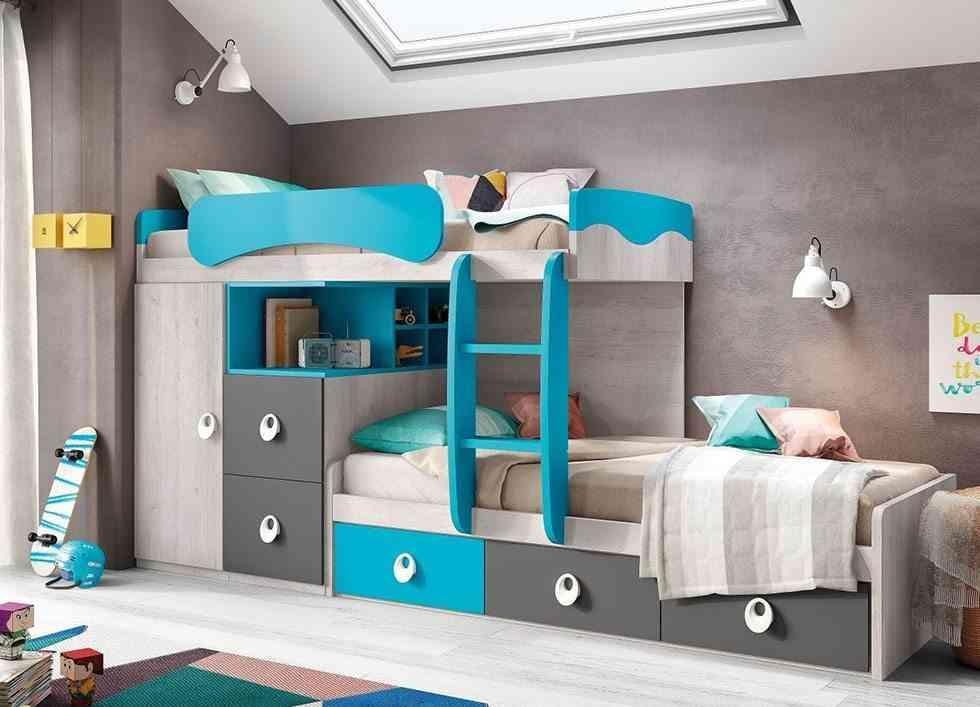 literas para dormitorios infantiles conforama tren azul