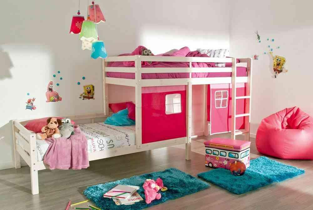 literas para dormitorios infantiles conforama tren rosa