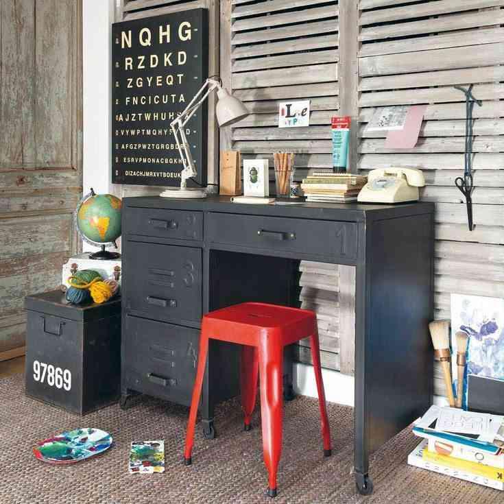 mantener los muebles de metal maisons escritorio