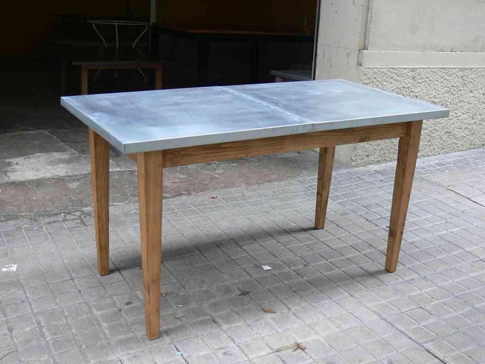 mantener los muebles de metal mesa cinc dadra